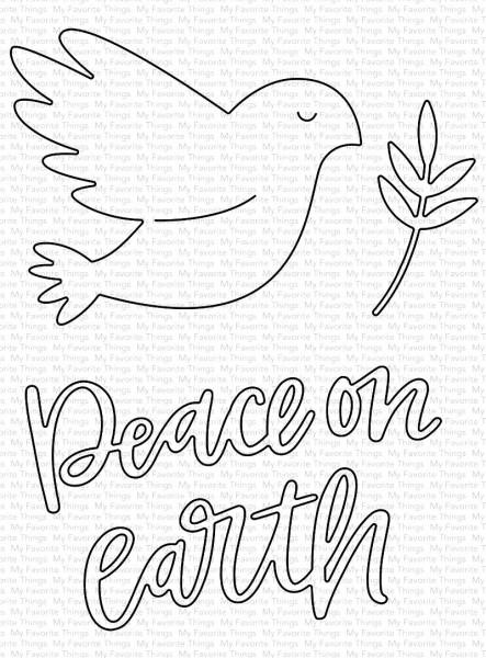 Dienamics Stanzform Taube, Zweig u. ' Peace on Earth ' / Peace on Earth MFT-1616