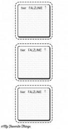 Dienamics Stanzform 3-er Fenster mit Nähnaht zum Öffnen vertikal/Stitched Interactive Window Trio -