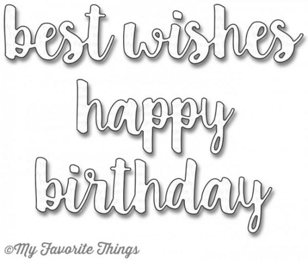 Dienamics Stanzform ' best wishes ' ' happy birthday ' / Cause For Celebration MFT-972