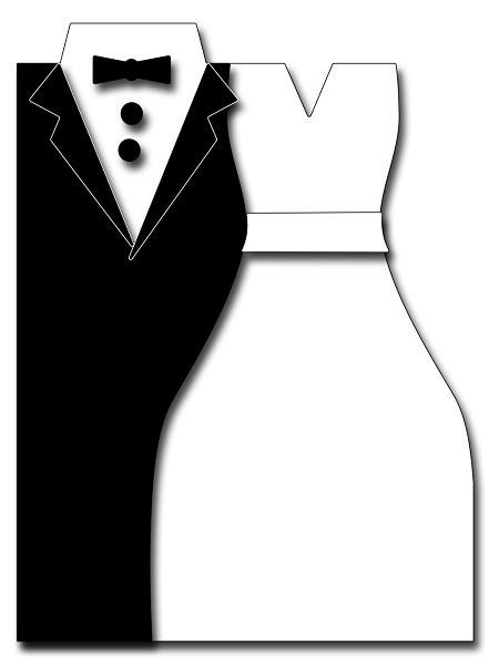 Frantic Stampers Stanzform Brautpaar-Karte / Bridal Couple Card Maker FRA-DIE-10347