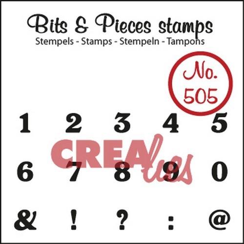 Crealies Clear Stempel Zahlen Nr. 505 CLBP505