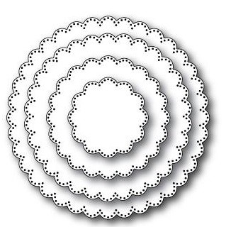 Memory Box Stanzform Pinpoint Scalloped Circles 30050
