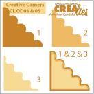 Crealies Ecke # 3 & 5 / creative corners # 3 & 5 (okker ) CLCC-03 & 05