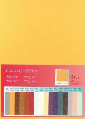 Papier A 4 Classic Silky OCKER ( 5 Blatt ) 652000/4602