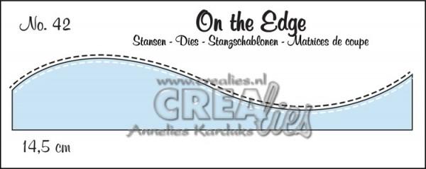 Crealies Stanzform On the Edge Schnee- / Hügel-Borte mit Nähnaht / Snow Hill with StitchlineNr. 43 C