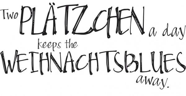 "Rayher Holz-Stempel "" Two Plätzchen a day...../ Weihnachtsblues 28-986-000"