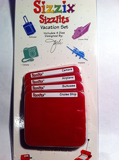 Sizzix Stanzform Sizzlits SMALL 4-er Set Vacation Set 38-9703