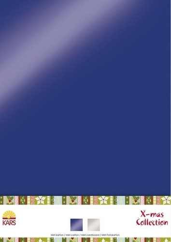 Spiegelkarton MIX X-mas Collection A 4 980003/0017 ( blau / sil