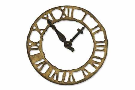 Sizzix Stanzform BIGZ Uhr / weathered clock 657190