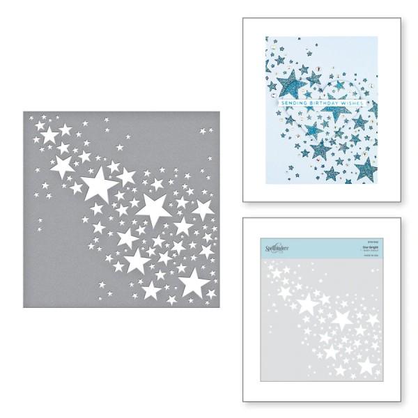 Spellbinders Stencil STAR BRIGHT STN-002