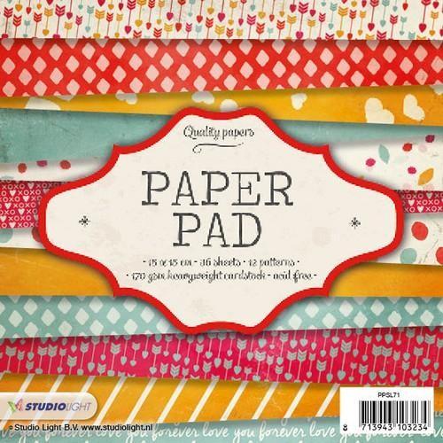Studio Light Paper Pad 15 cm x 15 cm PPSL71