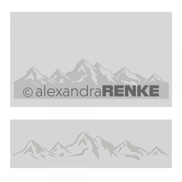 Alexandra Renke Prägefolder / Embossingfolder Berglandschaft KbEF-AR-T0001