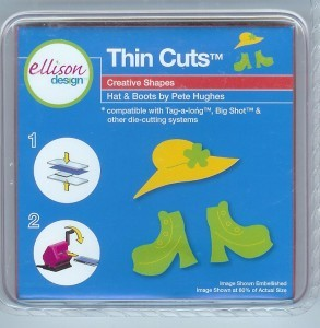 Ellison Designs Thin Cuts Stanzform Hut u. Schuhe / hat & boots 22082