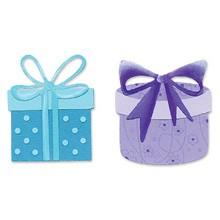 Sizzix Stanzform Sizzlits SMALL 4-er Set Geschenke u. Schleifen / gifts & bows 655231