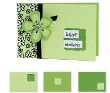 Sizzix Stanzform BIGZ XL Movers & Shapers Card, Horizontal Note & Wavy Window (Kit #3) 654782