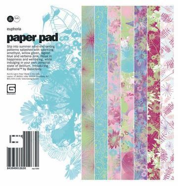 Basic Grey Paper Pad EUPHORIA 15,2 cm x 15,2 cm EUP-1263