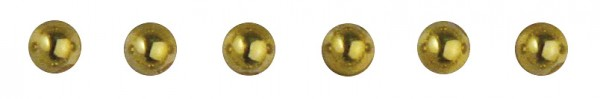 Rayher Plastik-Halbperlen selbstklebend 3 mm GOLD 15-117-06