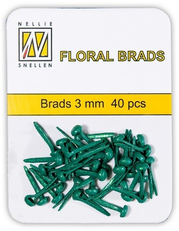Floral Brads Mini Glitter FLASCHEN-GRÜN / BOTTLE GREEN FLP-GB-007