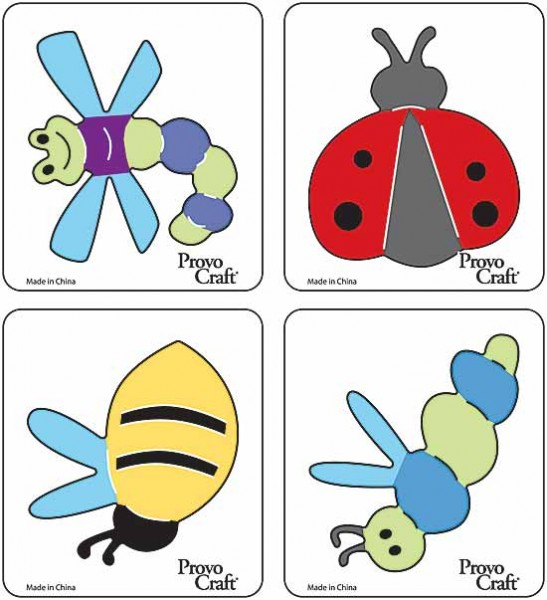 Cuttlekids 4-er Set Insekten / flying bugs 62-0055