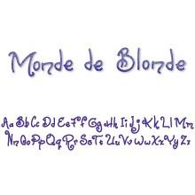 Sizzix Stanzform Sizzlits Border Alphabet Monde de Blonde 655202