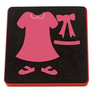 Allstar BIGZ Stanzform Kleid , Schuhe u. Schleife / Dree, Shoes & Bow A 10631