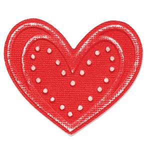 Sizzix Stanz-u. Prägeform Embosslits SMALL Herz mit Punkten / Hearts w / Dots 655207