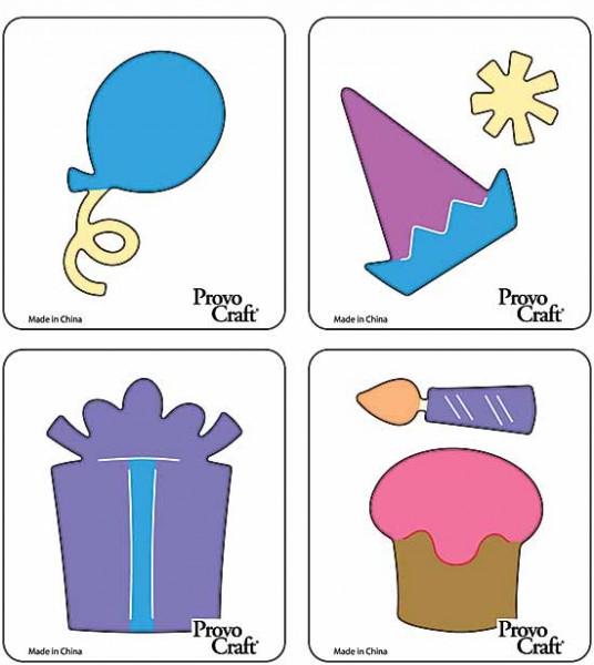 Cuttlekids 4-er Set Geburtstag / birthday 62-0005