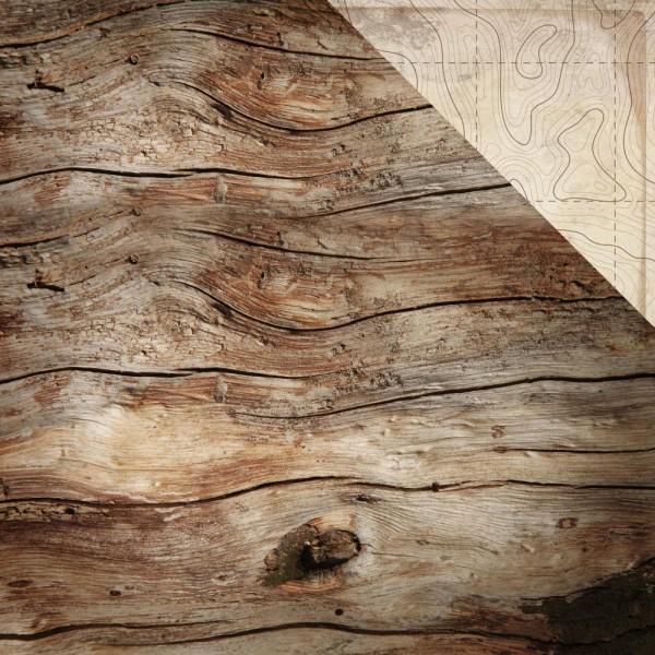 """Kaisercraft Scrapbookingpapier 12 """" x 12 Holz-Struktur dunkelbraun / Imagine P2785"""