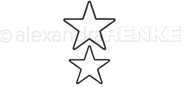 Alexandra Renke Stanzform Sterne Outline mittel D-AR-RA0024