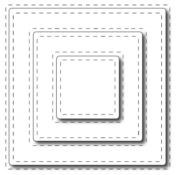 Frantic Stamper Stanzform Quadrate Nähnaht / Stitched Squares FRA-DIE-09639