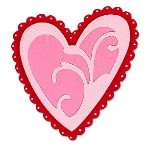 Sizzix Stanzform Originals LARGE Herz ornamental / heart ornamental 655685