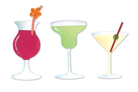 Sizzix Stanzform Sizzlits MEDIUM 3-er Gläser-Set / drinks set # 2 656526