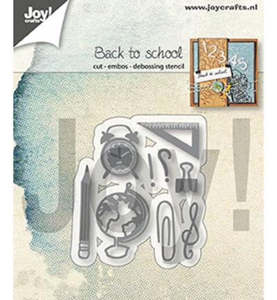 Joycrafts Stanzform Schul-Zubehör / Back to School 6002/1345
