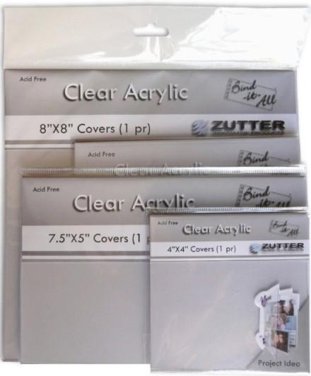 """Zutter Acryldeckel durchsichtig 6 """" x 6 """" = 15,2 cm x 15,2 cm ( 2 Stück ) 2791"""