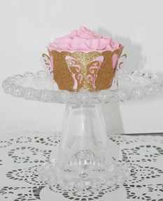 Muffin-Verpackung Schmetterling/buterfly cup cake wrapper 0716