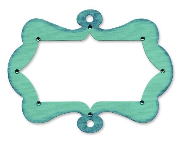 Sizzix Stanzform Originals LARGE Rahmen gewellt hängend / Frame Hanging w/ Scallops 656084