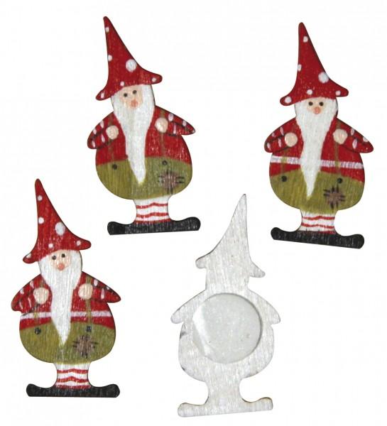 Holzstreuteil Santa rot / grün 3,5 cm 56-180-00