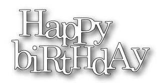 Poppystamps Stanzform ' Happy Birthday ' 1403