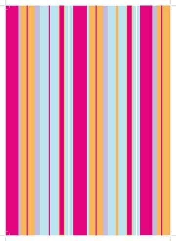 Pergamano Design-Papier A 4 Sweet Streifen 61812