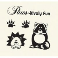 Basic Grey Clear Stamps Paws - itively Fun 2088-11