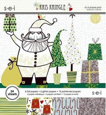 Paper Pad SEI Kris Kringle 15,2 cm x 15,2 cm 8-4697