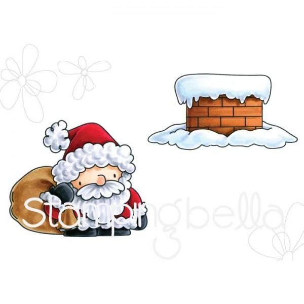 Stampingbella Cling Stempel Nikolaus u. Kamin / Santa And His Chimney EB565