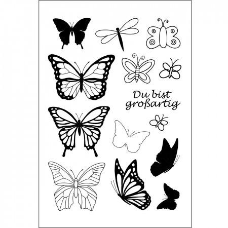 Efco Clear Stempel-Set Schmetterlinge 4511226