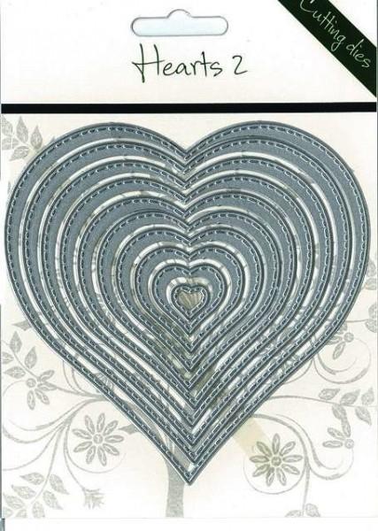 Romak Stanzform Herzen mit Nähnaht / Hearts 2 817919