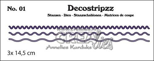 Crealies Stanzform Decostripzz Nr. 1 Kurven / Curves CLDS01