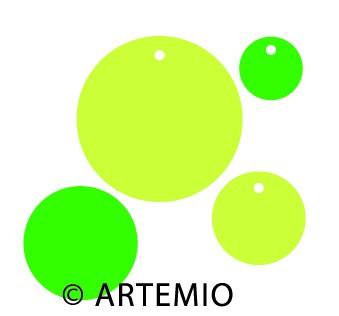 Artemio Happycut Stanzformen 6,8x6,8+4,2x4,2 cm Anhänger rund 18022013