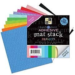 DCVW Papier mat stack BRIGHTS adhesive 9,8 x 9,8 cm MS-010-00001