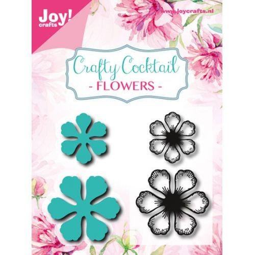 Joycrafts Stanzform u. Clearstempel Blumen / Flower 6004/0005