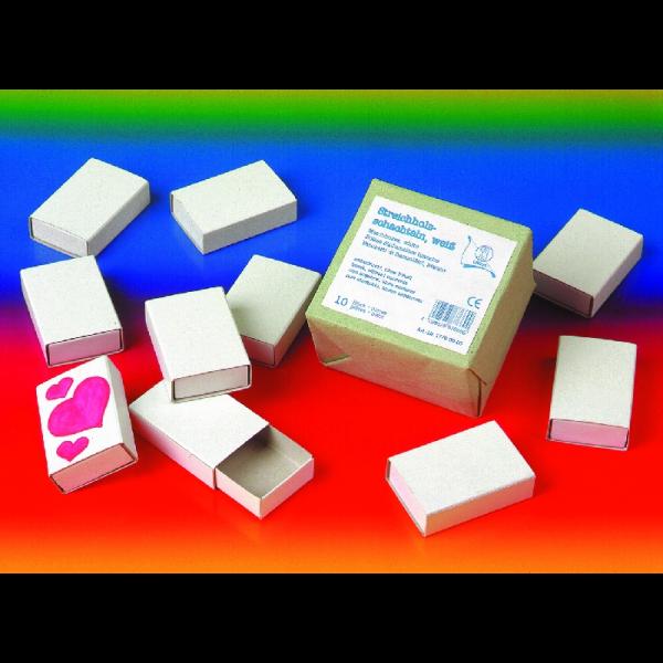 Streichholz-Schachteln 10 Stück weiss 17700000