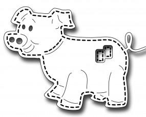 Frantic Stampers Stanzform Schwein mit Nähnaht / Stitched Pig FRA-DIE-09982
